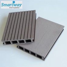hollow redwood color outdoor wpc house decking board