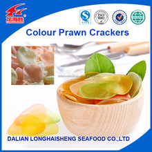 Asian Popular Seafood Snacks Coloured Prawn Crackers