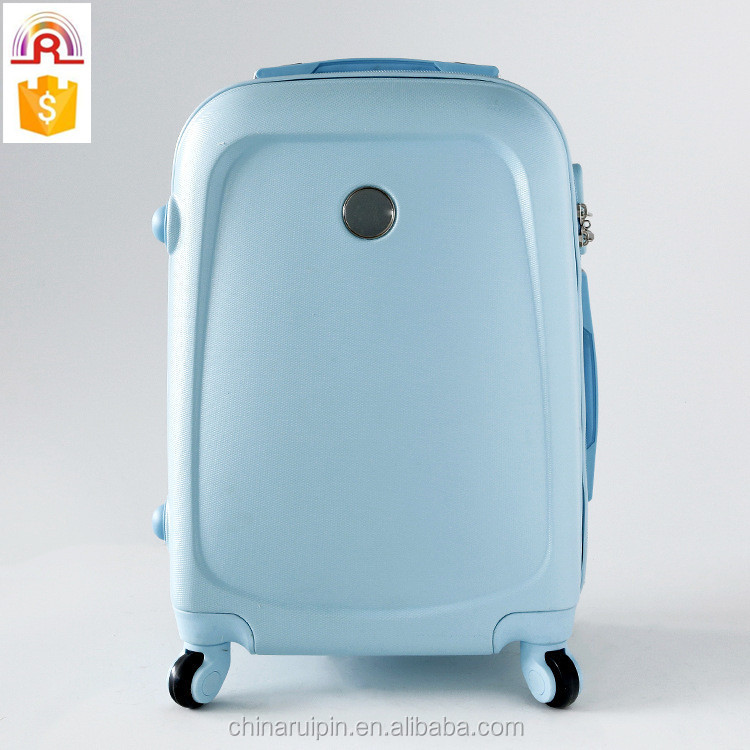 ABS blue door house travel luggage 4 wheels carry on suitcase 20 inch boy girl favor school bag