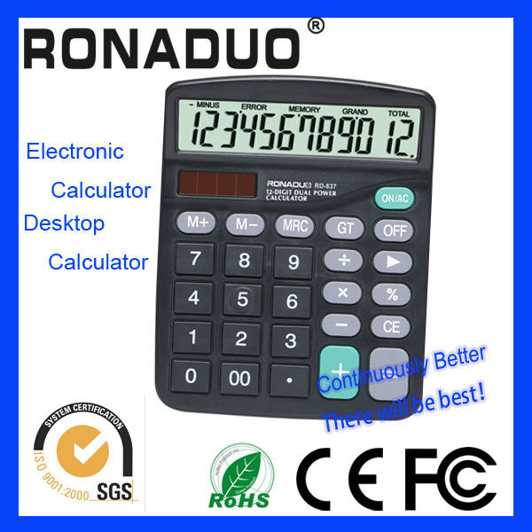 inflation calculator 12 digits lcd display calculator high quality dual power calculator for wholesales