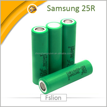Samsung 25R 2500mah 20A 3.7v li-ion rechargeable 18650 battery samsung INR18650-25R