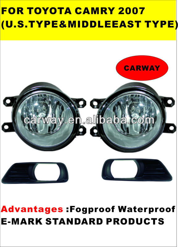 for toyota camry 2007(U.S.TYPE$MIDDLE EAST TYPE) toyota camry fog lights