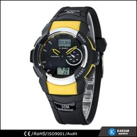 world dual time multifunctional digital analog sports watch