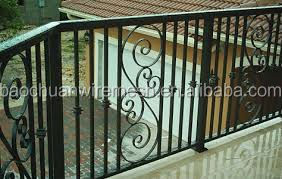Powder coated high quality wrought iron raillings pictures (Hebei)