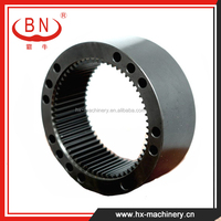 Apply to KOMATSU PC130-7 Excavator Factory Price Gear Ring for Swing Machinery , Internal Ring Gear