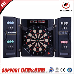 2018 NEW Customized 4 LED Display 27 games 1-8 Players Electronic Dart Machine Electronic Dart Board with Cabinet
