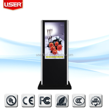 GREAT DIRECT price hotel 46 inch werbung floor standing displayer VGA, AV, S-video, HDMI ce rohs fcc ul