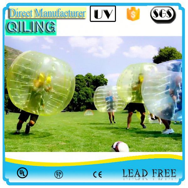 qiling cheapest outdoor bubble football order for sale