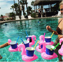 Inflatable flamingo cola sets of water coke cups drinks mobile phone cups inflatable toys