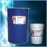 liquid silicone adhesive with structural bonding and two components