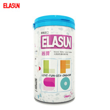 ELASUN 24 pcs 5 Types Sexy Group 5 in 1 Granule Pleasure Lasting Security Condoms Natural Latex Rubber Condom for Men