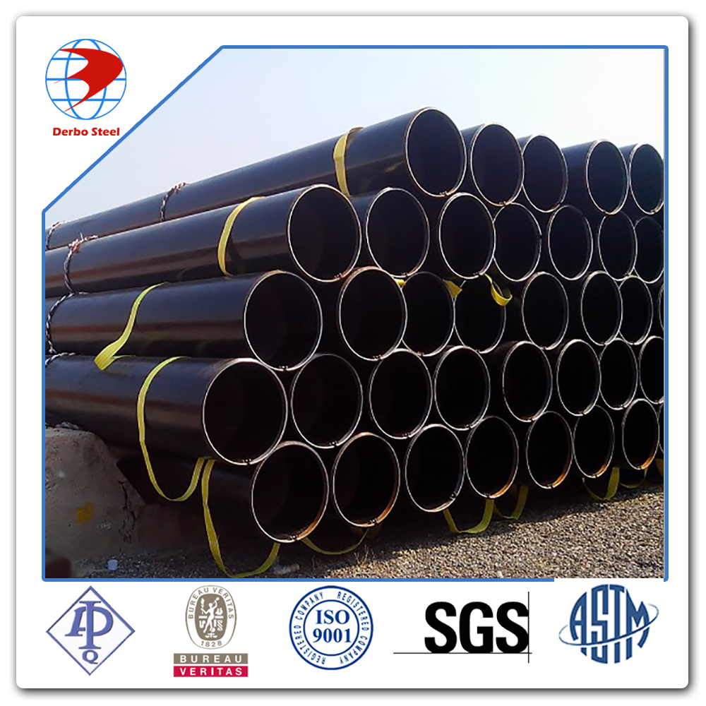 API 5L GR.B OD 114.3 mm WT 4.8 mm ERW 3- layer Polythene Oil line pipe