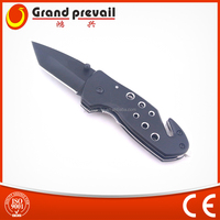 Aluminium Black Anodized Handle Folding Survive Knife