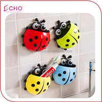 ECHOLUX To Report WFlash Hawk Strong Chuck Toothbrush Toothpaste Creative Household Lady Beetle Suit Toothbrush Holder