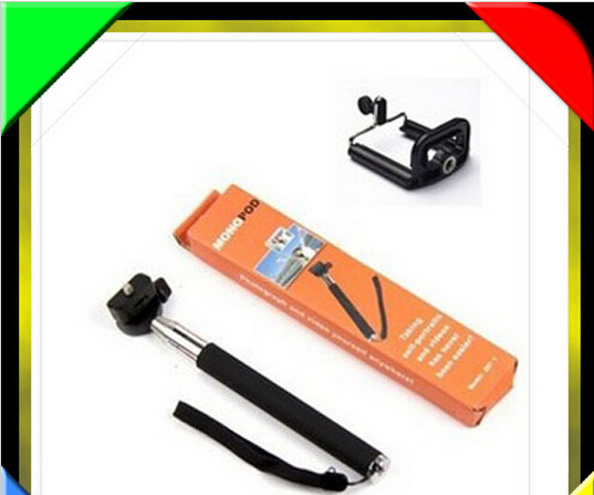 3 in 1 universal mobile phone monopod clip remoter
