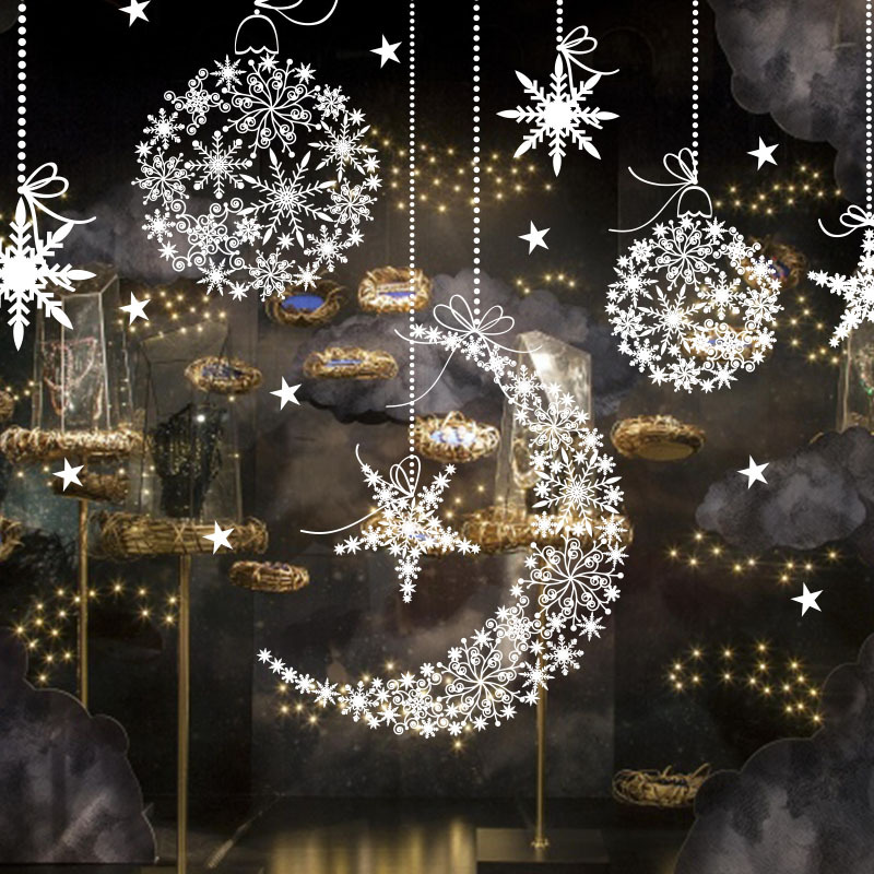 syene amazon outdoor christmas decoration 2017 shop mall window glass merry christmas stickers for holiday buy amazon christmas decorationsoutdoor