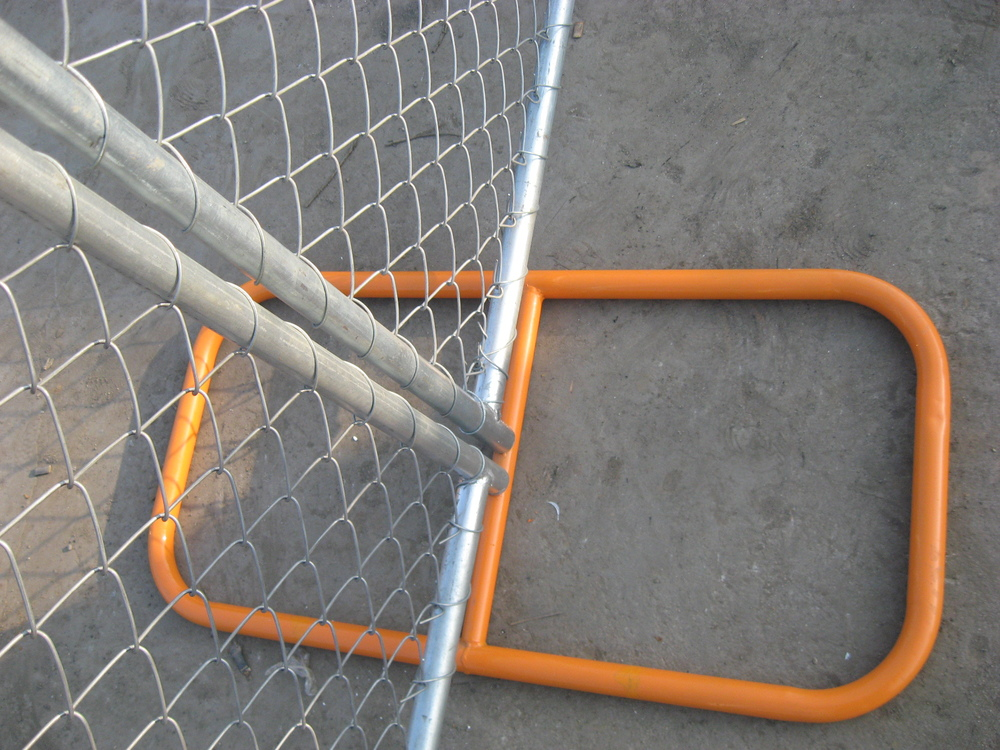 Temporary Fence chain link Construction site /Construction chain wire Temporary Fence China direct factory