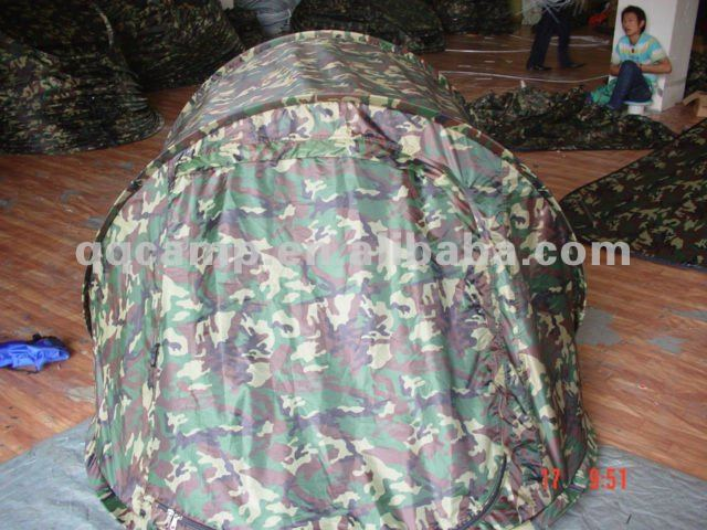 Camouflage pop up tents