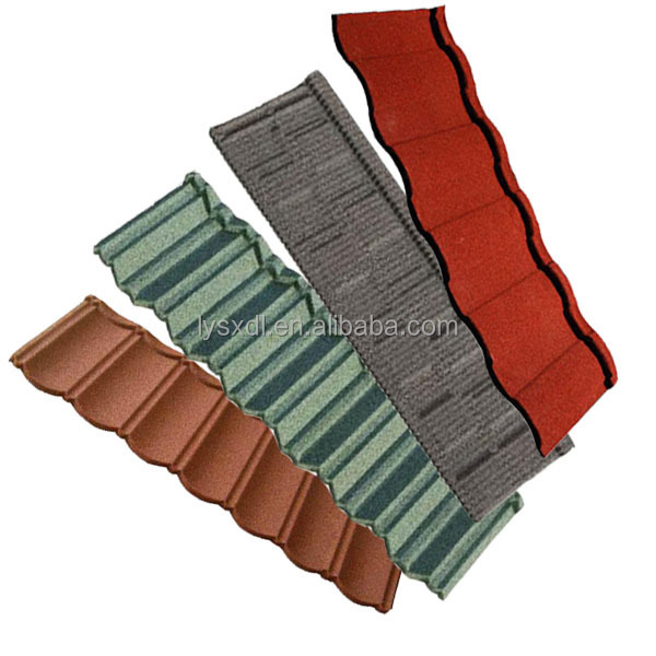 HOT SALE Synthetic bitumen Stone Coated Chip Steel Roof Tiles Sancidalo Roof Tile
