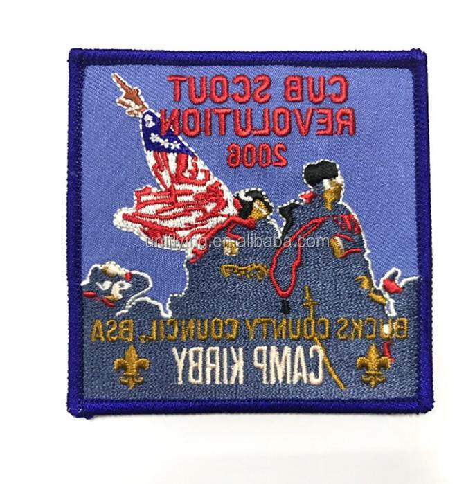 Cheap Price Iron On Paper Backing Wholesale Custom Full Embroidery Patches