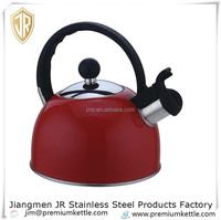 Best stainless steel whistling kettle Red painted kettle 3.0L