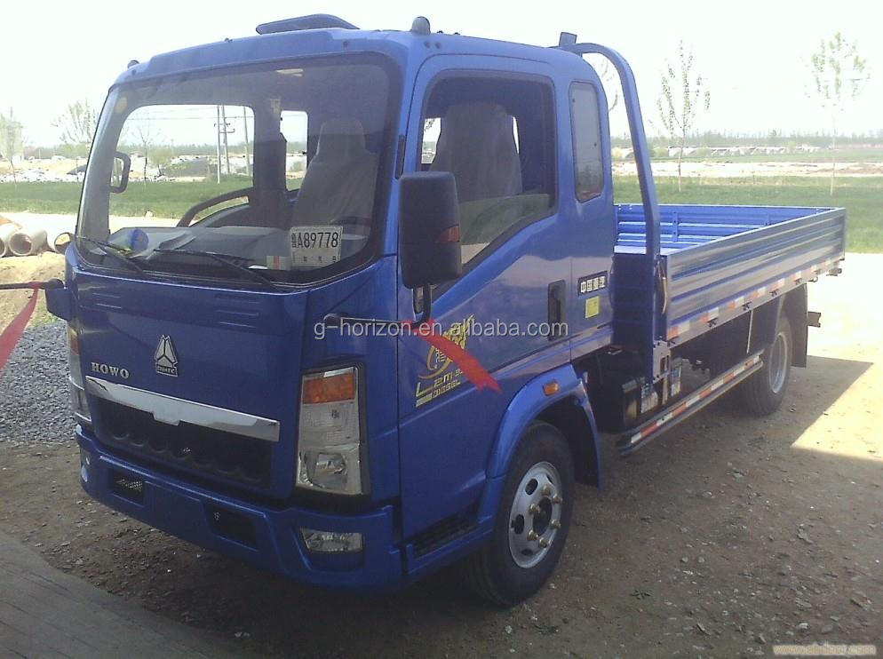light truck HOWO brand small cargo trucks for sale 10t cargo truck dimensions