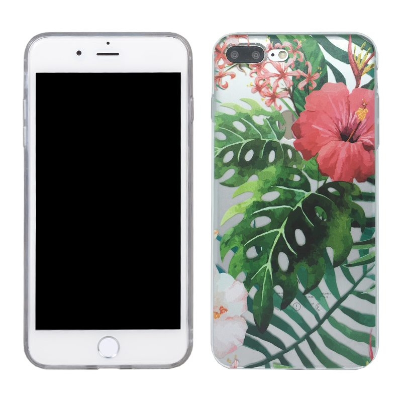 China factory direct sale tpu flower phone case for iphone 7 plus 5.5 inch