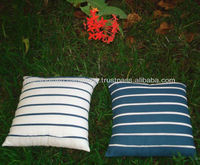 Frill stitched cushions