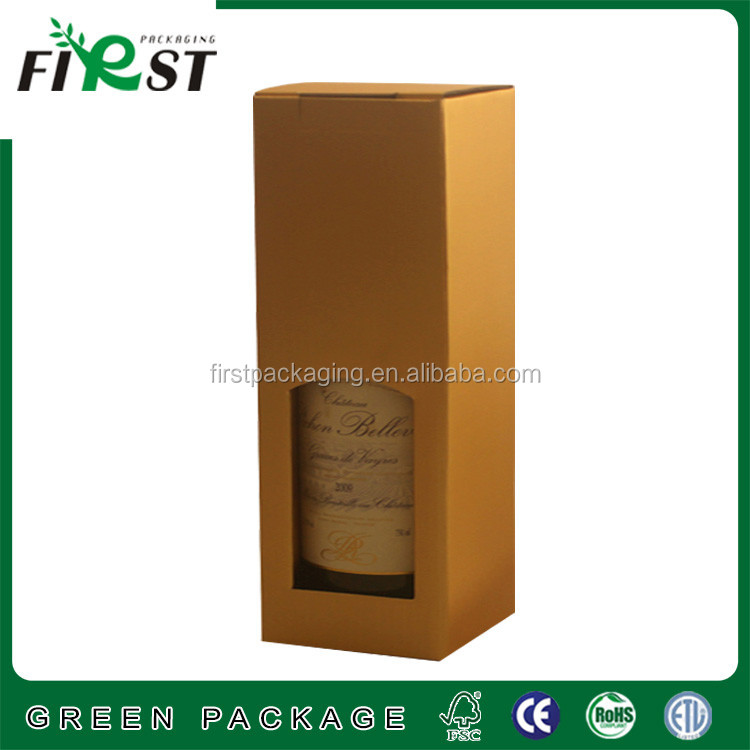 Customize Paper Single Wine Box With Corrugated Boxes,Kraft Paper Wine Carry Bags Gift Wine Packaging Box