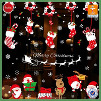 TJ--XY-622 FACTORY PRICE Decorative removable vinyl christmas wall stickers