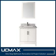 Hot sales small house bathroom vanity with marble top