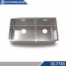 Above Countertop Handmade Double Bowl Inox Kitchen Sink