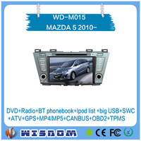 Hot car entertainment system for MAZDA 5/Mazda Premacy 2010 2011 2012 2013 2014 2015 gps navigation support A/C showing swc ce