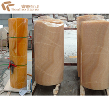 Nature Hollow Honey Onyx Column For Wedding Hall Room Interior Decoration