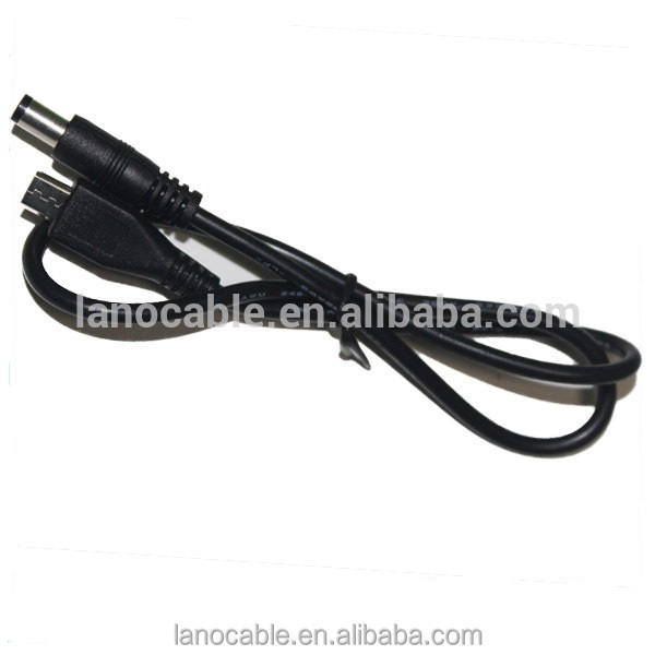 China manufacturer 24awg 2.1mm micro usb dc charging cable