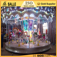 Amusement kids rides indoor and outdoor playground merry go round small carousel for sale