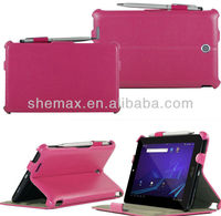Heart Pressing PU leather case for asus fonepad me371