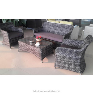 New rattan design patio outdoor dining table chair sets
