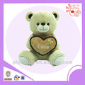 Velentia's day lovely bear,embroidery heart stuffed bear