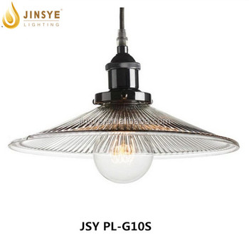 ribber clear glass lamp vintage pendant/glass ceiling lamp, View ...