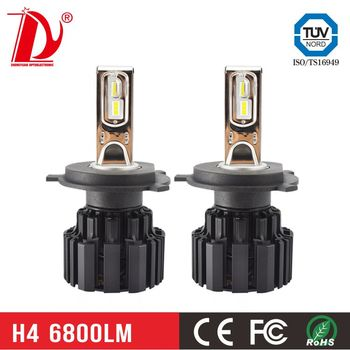 d2s led headlights 13600lm 72w led headlight car accessories h7 led canbus