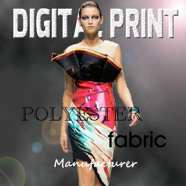 Digital Printed Polyester Fabric,Digital Printing On Fabric Polyester -M