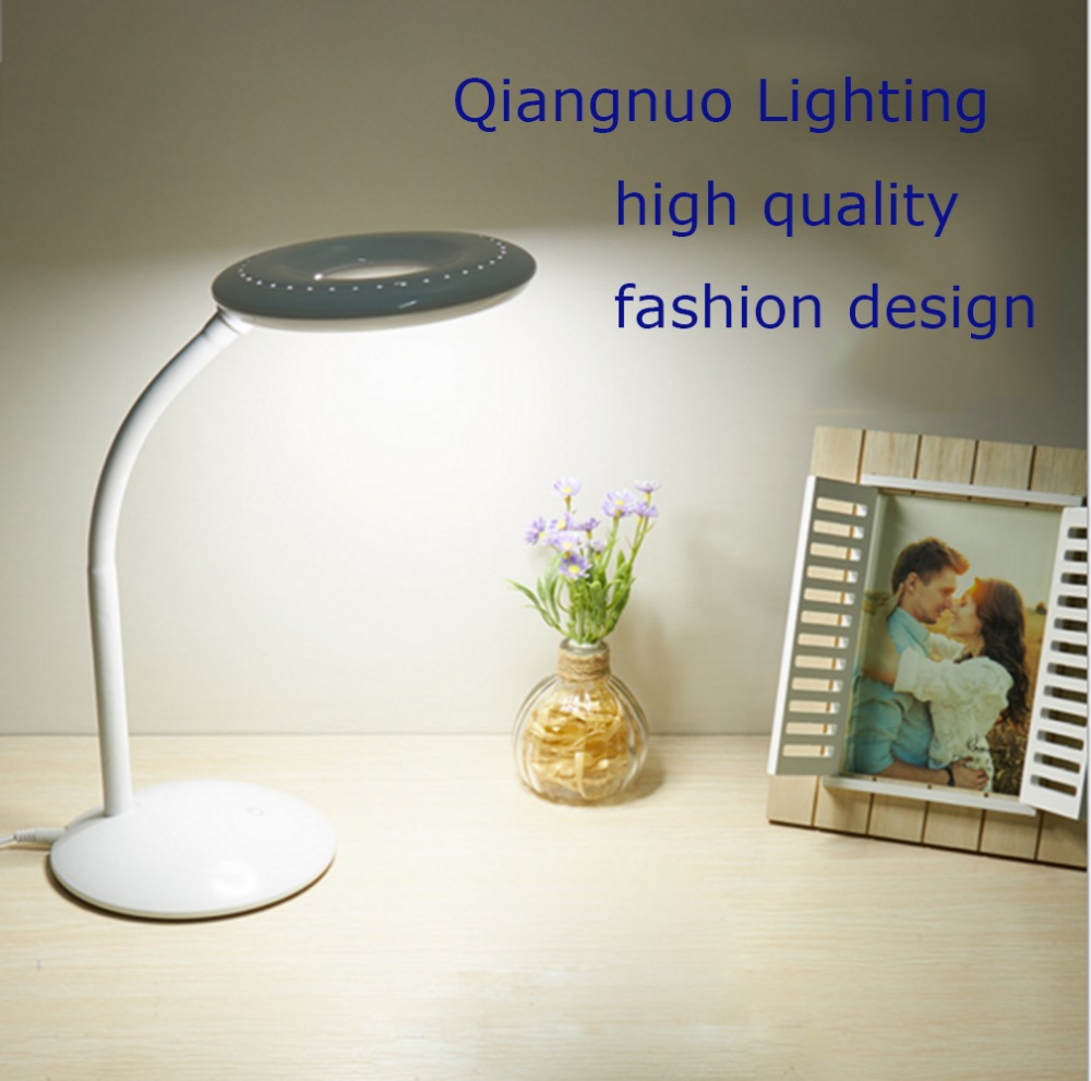 LED Kids Lamp Metal Touch Sensor Button Table Lamps Flexible Desk Lamp Nig ht Light Rooms Bedside Lighting