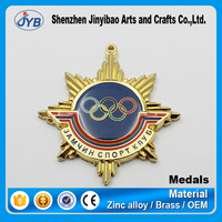 high end customized logo awarding metal olympic medal