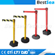 Crowd control retractable barrier with heavy base, custom metal barriers