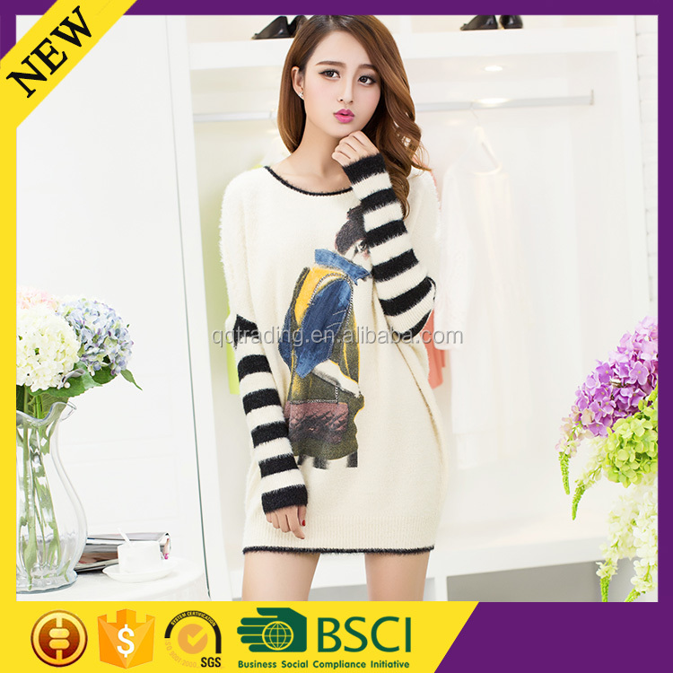 Colorful model latest top quality 2015 excellent yarn cotton sweater