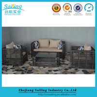 Sailing Sgs Tested Resin Rattan China Mobile Home Salon Furniture Waiting Sofa