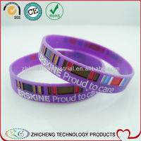 beautiful party silicone wristband colorful silicon bracelet with debossed logo fill ink