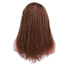 Premier natural Kinky Curl human hair lace front wig with baby hair Brazilian virgin hair wig for black women