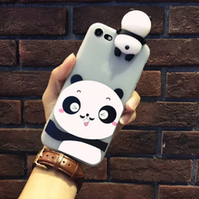 Newest 3D Cute Panda Soft Silicone TPU Phone Case for iPhone 7